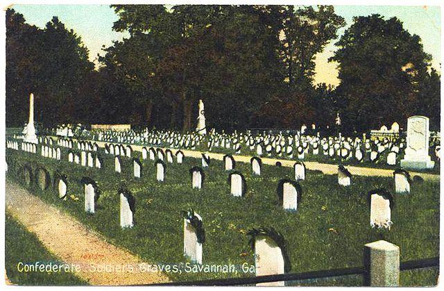 Confederate soldiers graves, Savannah, GA