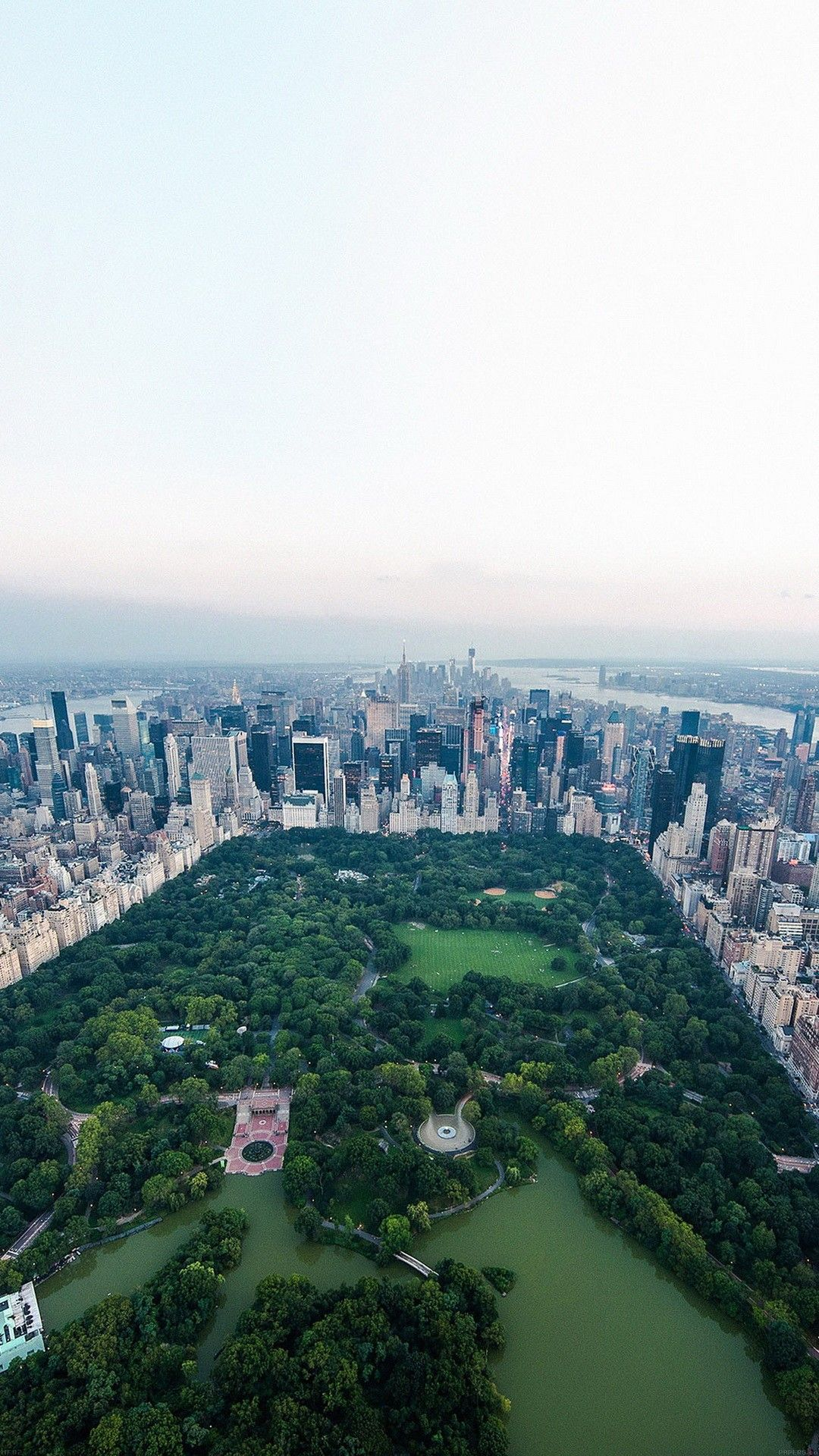 New York Central Park Top View Smartphone Wallpaper Hd