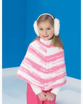 Kids Striped Knitted Poncho Knitted Poncho Ponchos And