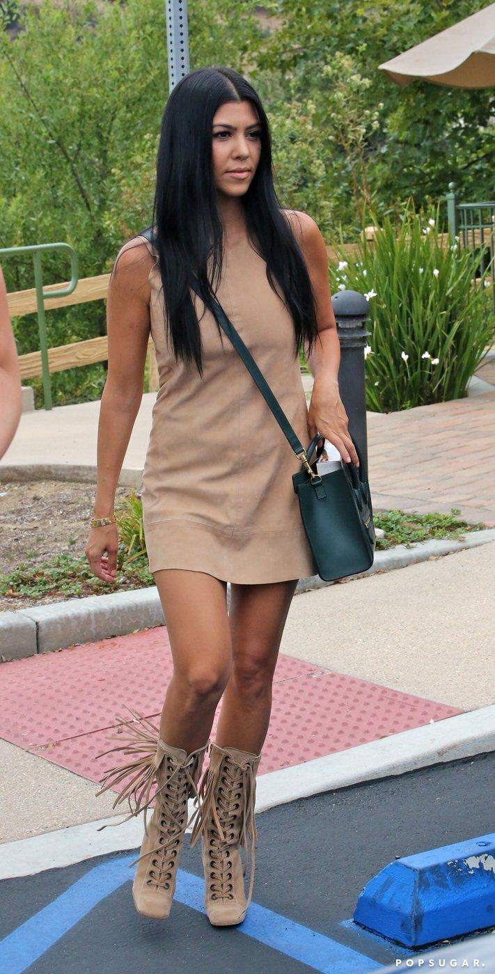 Pin for Later: Kourtney Kardashian Shows Some Leg on Her Cute Family Outing