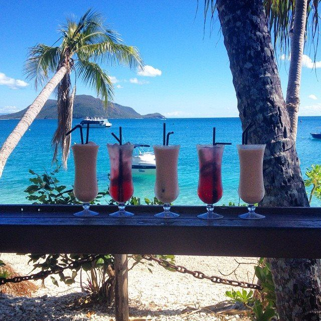 Fitzroy Island Queensland: A Selection Of Cocktails And The Dreamy Backdrop Of