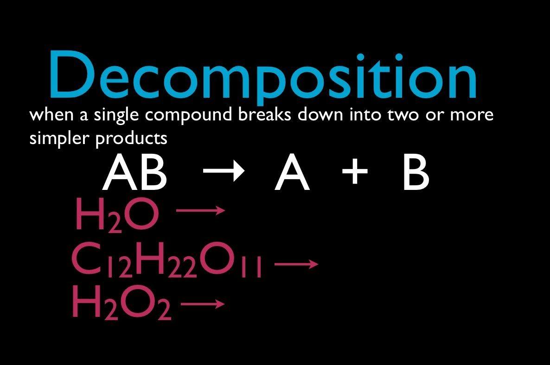 Decomposition Reactions Module 5