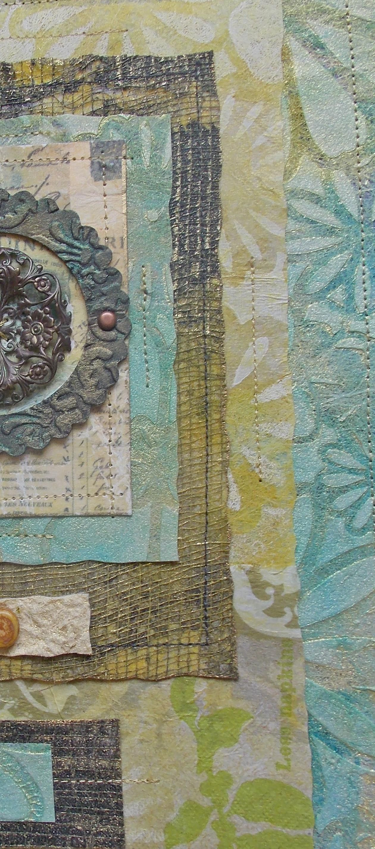 Fragment Of Fiber Assemblage Fabric Art Collage
