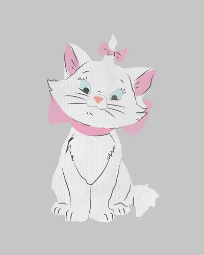 Pin the bow on Marie from Aristocats game.. printable, DIY birthday ...