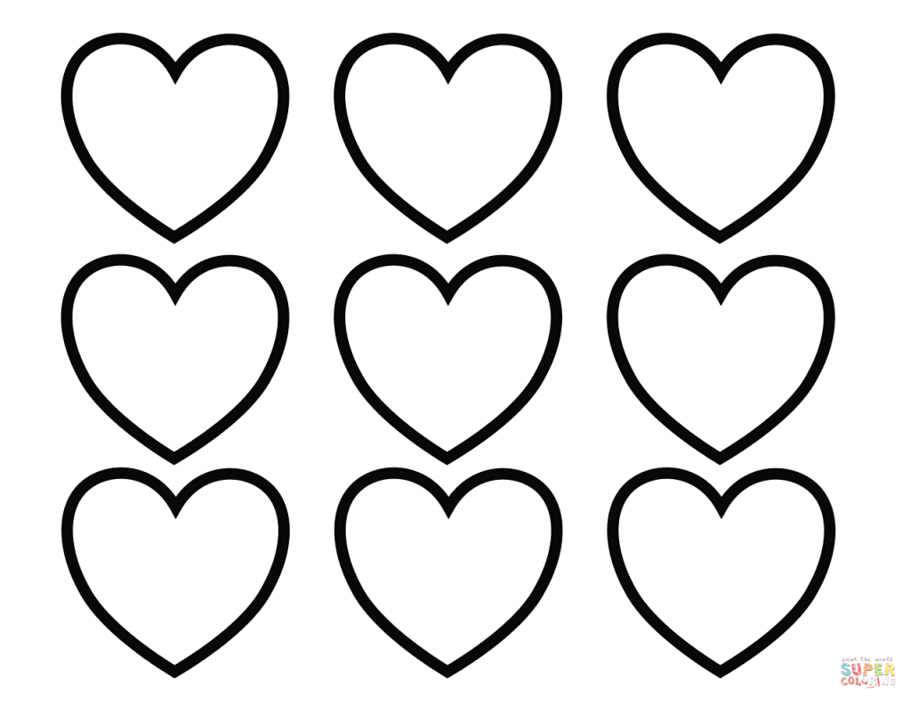 picture regarding Printable Hearts to Color titled Valentine: Valentines Working day Blank Hearts Coloring Webpage Cost-free