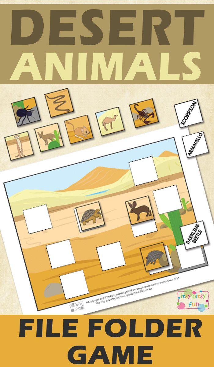 printable desert animals file folder game itsy bitsy fun pinterest desierto. Black Bedroom Furniture Sets. Home Design Ideas