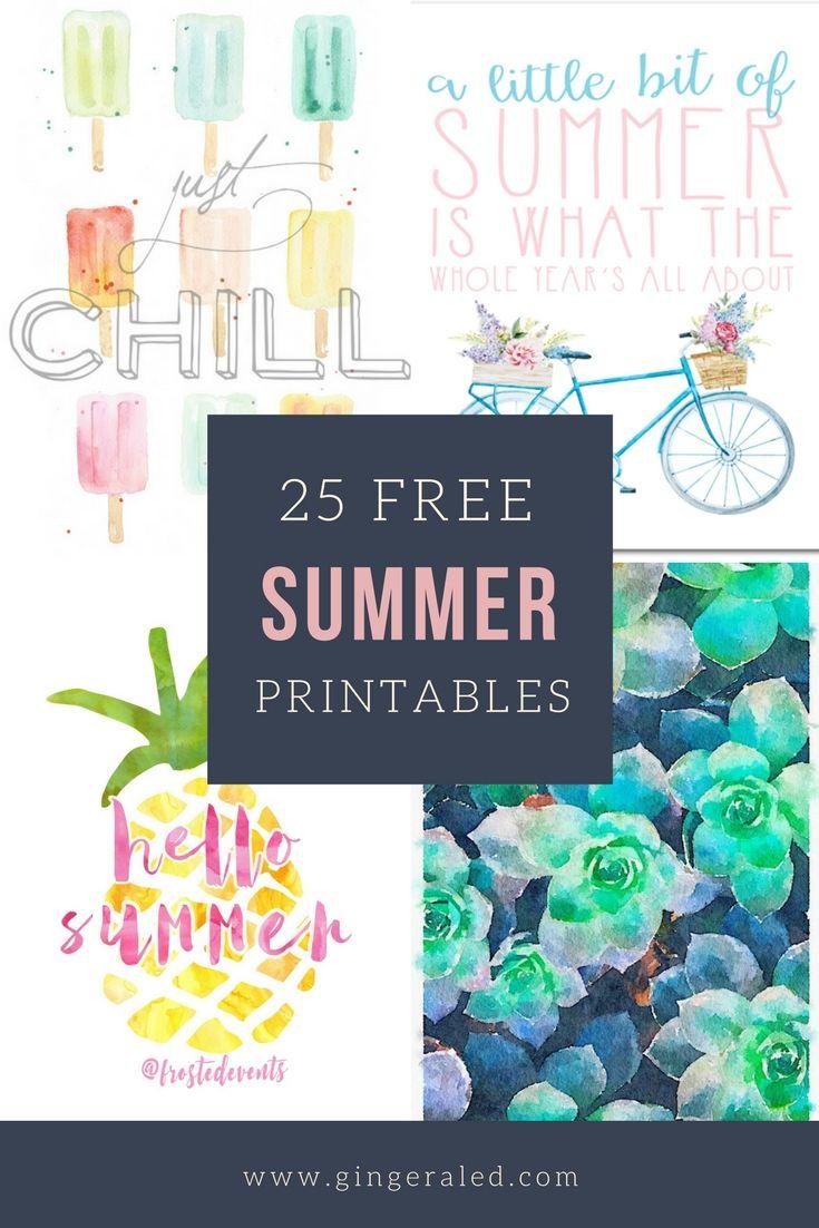 25 Free Summer Printables Summer Printables Free Summer