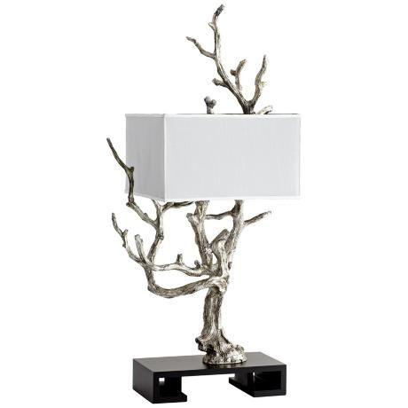 Mesquite Mystic Silver Contemporary Tree Table Lamp   #3R105 | LampsPlus.com
