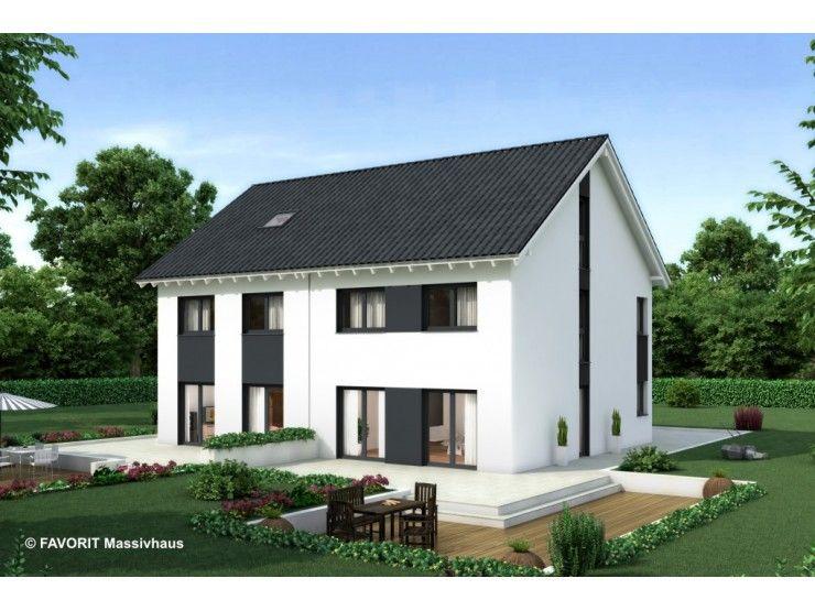Massivhaus modern satteldach  Finesse 107 - #Doppelhaus von Bau Braune Inh. Sven Lehner ...
