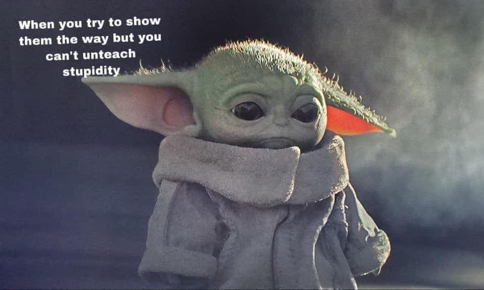 Pin By Sonia Villaman On Baby Yoda Yoda Funny Yoda Meme Yoda