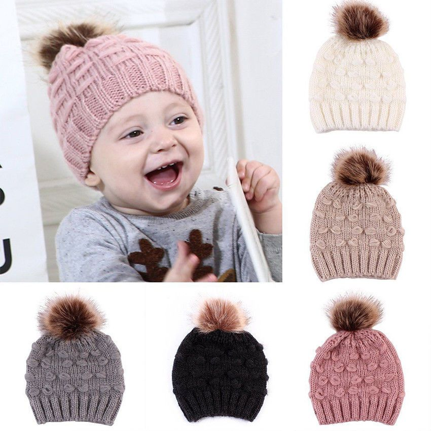 4df0482f3479 Lovely Knitted Winter Warm Crochet Beanie Hat Cap For Baby Kids Toddler Boy  Girl  fashion  clothing  shoes  accessories  babytoddlerclothing ...