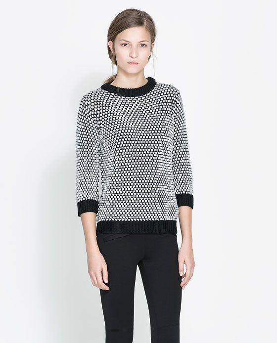 ZARA - WOMAN - TWO-TONE SWEATER