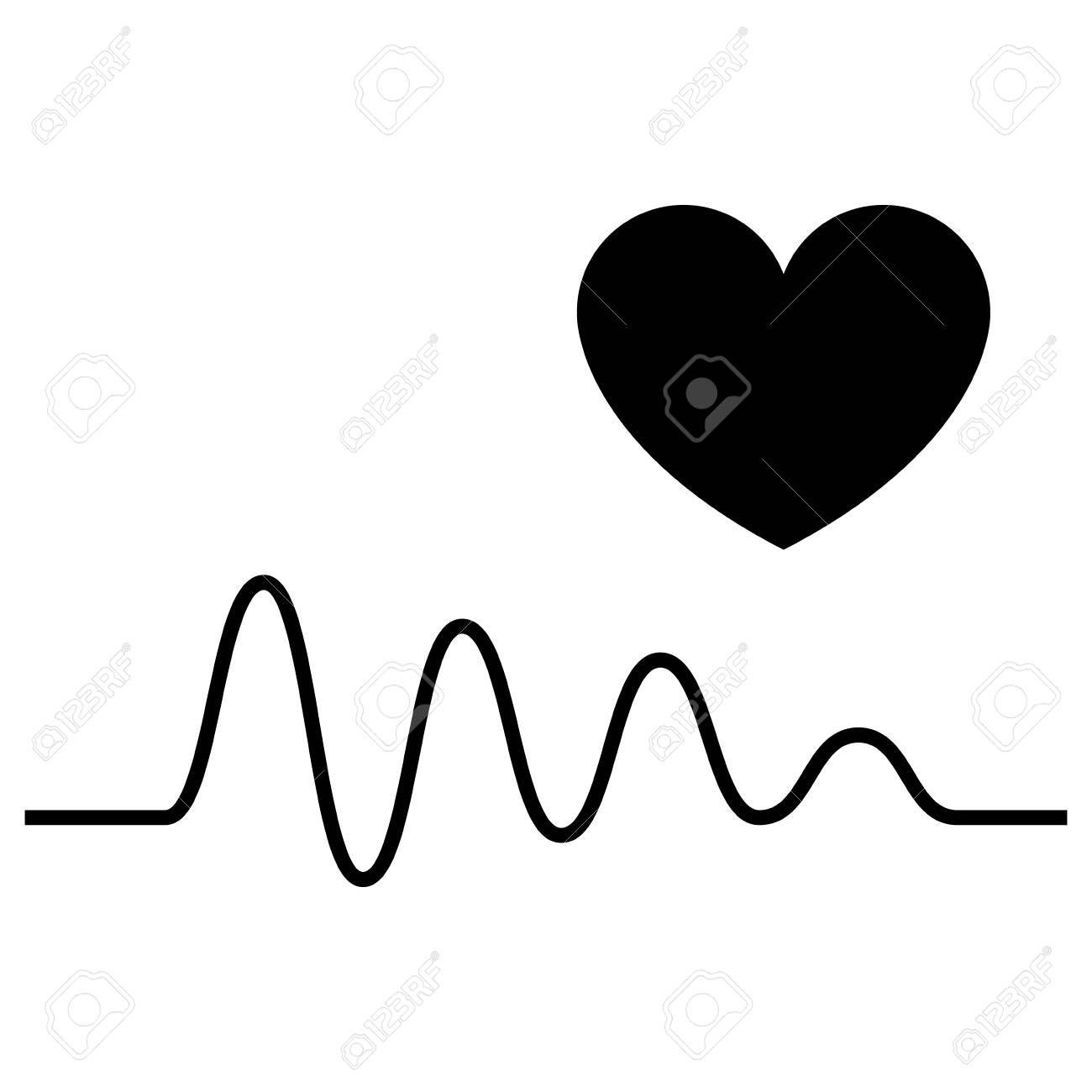 Cardiogram And A Heart Icon Vector Illustration Affiliate Heart Cardiogram Icon Illustration Vector Heart Icons Vector Illustration Vector Logo