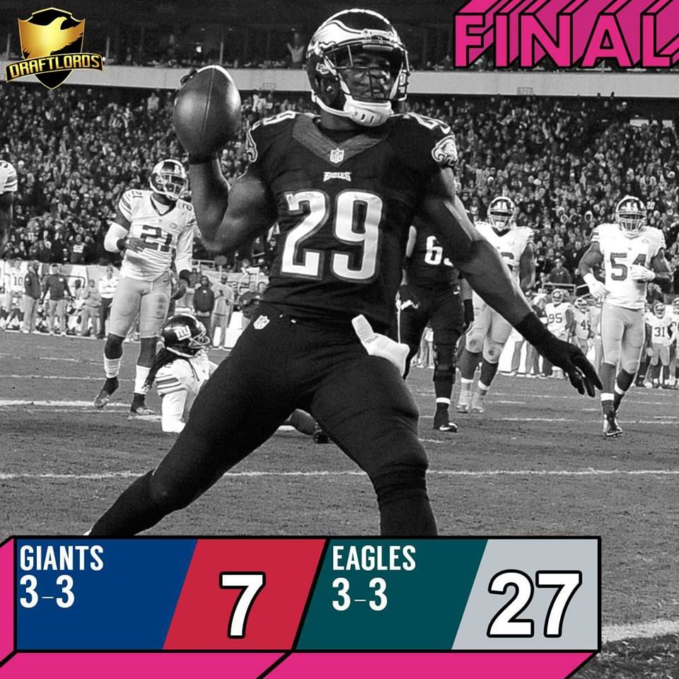 The New York Giants Score 7 The Philadelphia Eagles Score The