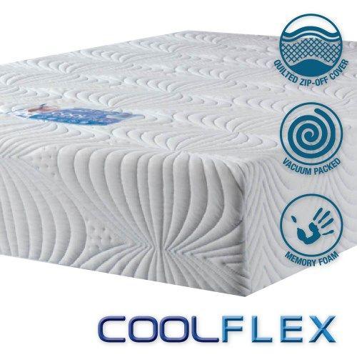 icon designs concept memory sleep coolflex 20 high density cooler memory foam mattress uk double