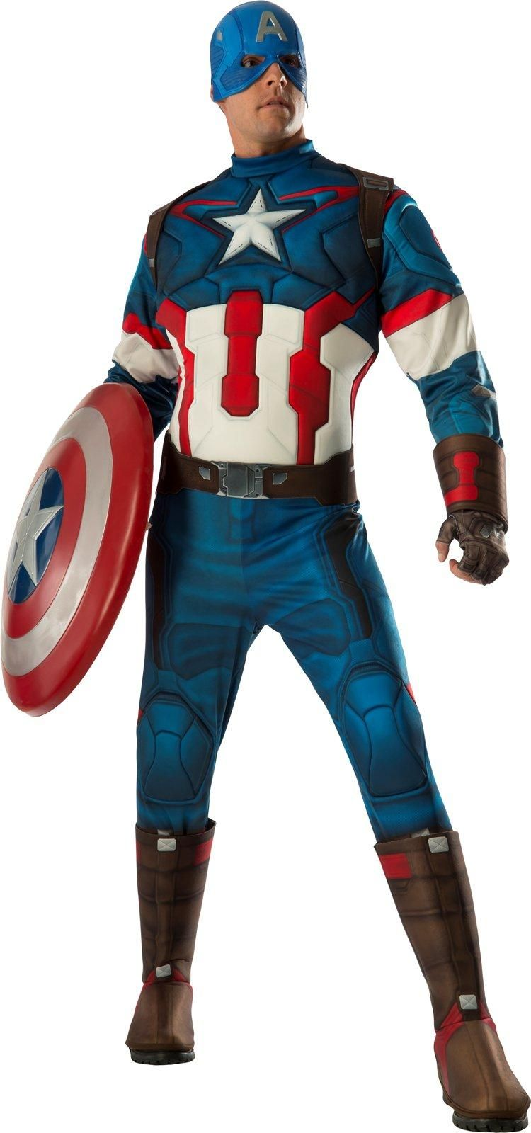 ea31238f369 Become the ultimate Captain America in this Avengers 2 - Age of Ultron  Deluxe  Captain America Costume For Men from Buycostumes.com!