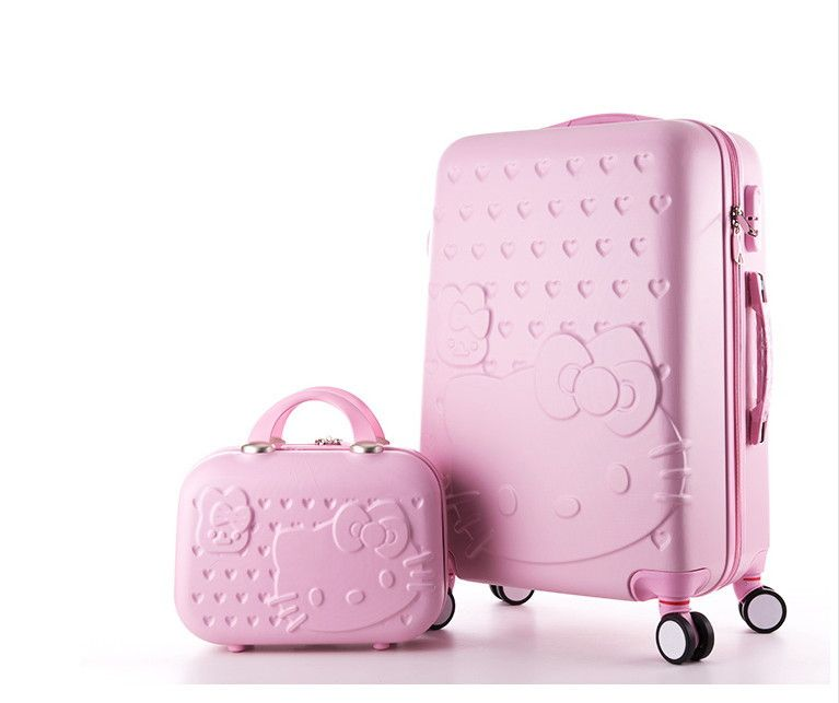 Hello Kitty lady luggage suitcase trolley travel bag bag trolley wheels women  luggage wheels travel box 20-28inch abs luggage 3d176302fdea9