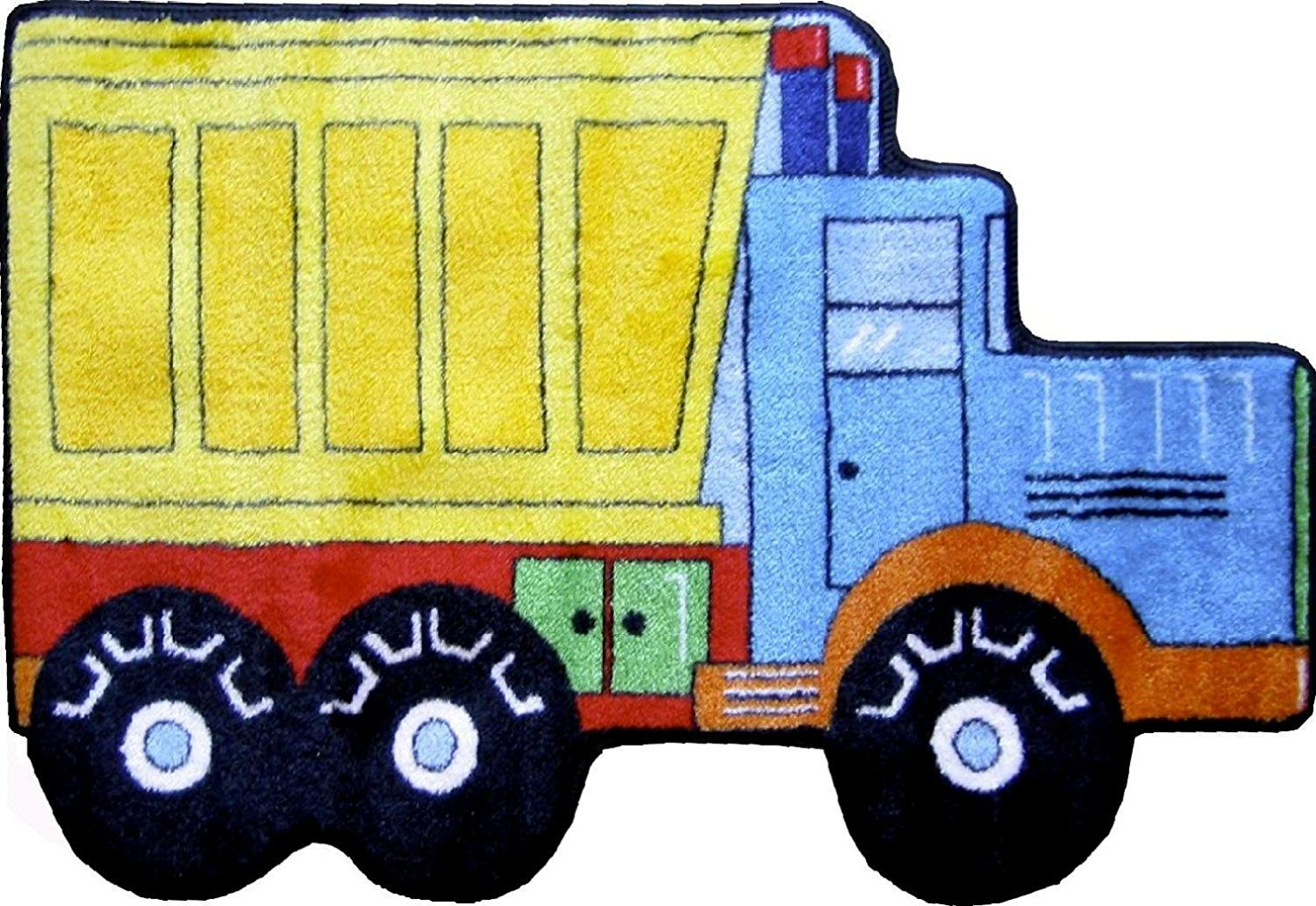 LA Rug Dump Truck Rug 31'x47' *** Discover this special deal, click the image : Kids Room Decor