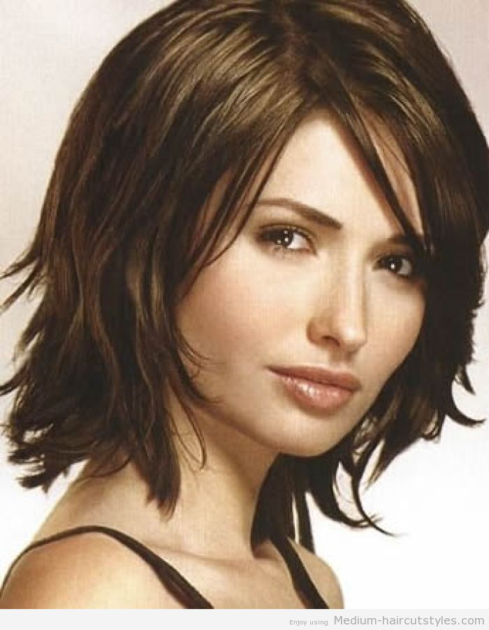 Medium Length Layered Hairstyles For Thick Wavy Hair Mid Length
