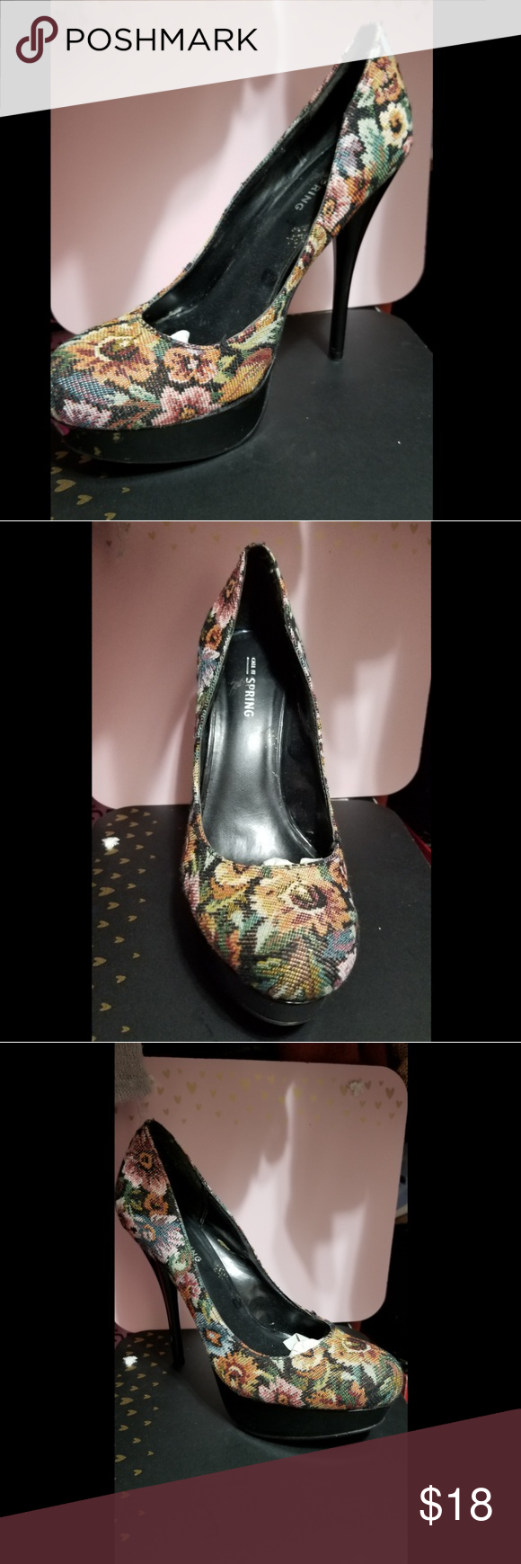 0a8dd6d711 Cute and Sexy Floral Stilleto Heels Cute floral design 5 inch Platform  Stilleto heel Call It Spring Shoes Heels