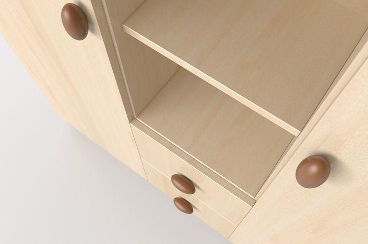 Nelli wardrobe with cherry handle / Nelli szekrény cseresznye fogantyúkkal