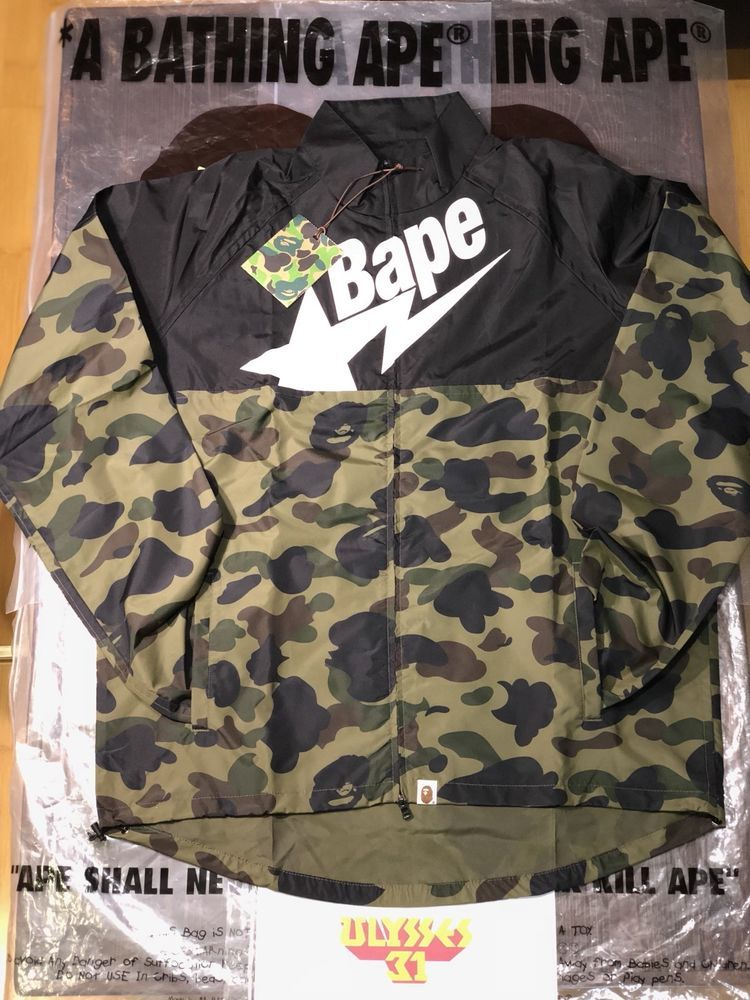 5d228a1797 A BATHING APE 1st CAMO CYCLE JACKET BAPE Hoodie  ABATHINGAPE  Windbreaker