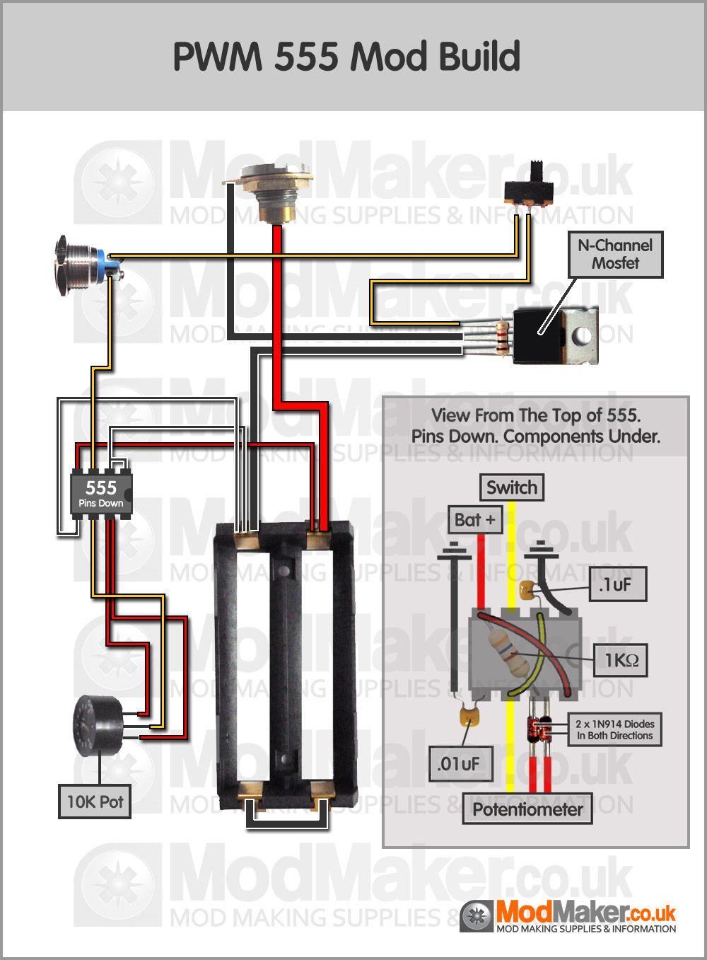Diy Wiring Diagrams Carrier Air Handler Diagram Pwm 555 Proyek Untuk Dicoba Pinterest Vape