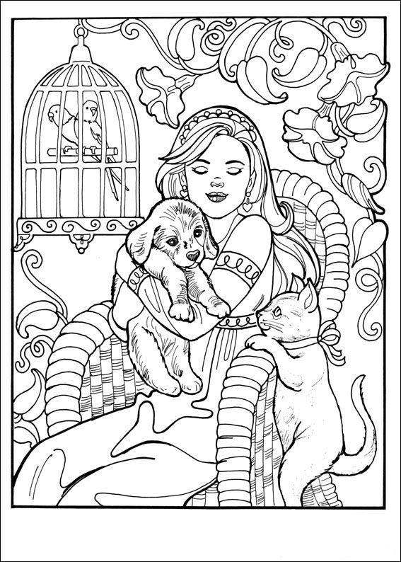 Ausmalbild Prinzessin Leonora Kids N Fun Lineart Coloring Pages