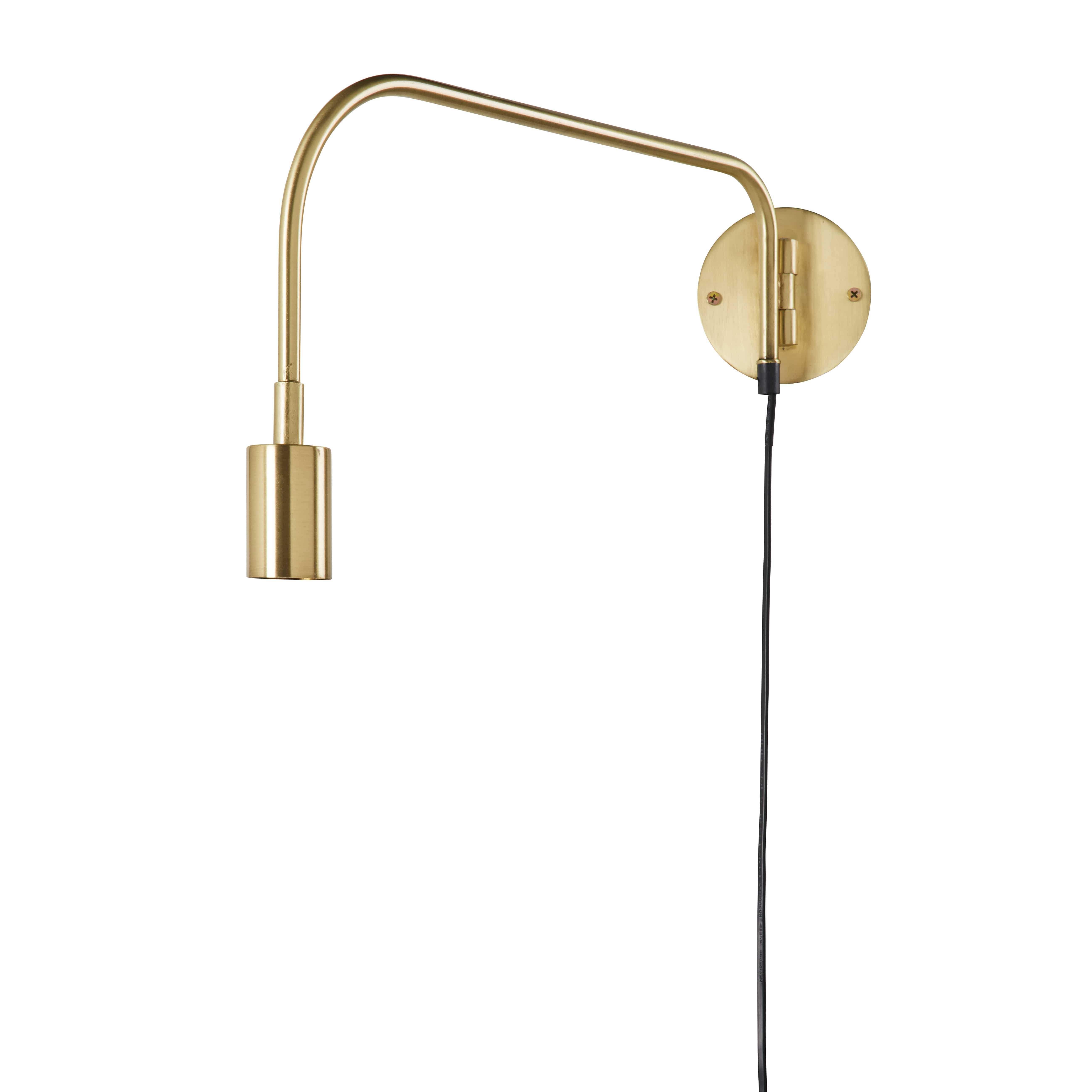 Applique orientabile in metallo dorato effetto anticato DAVIS ...