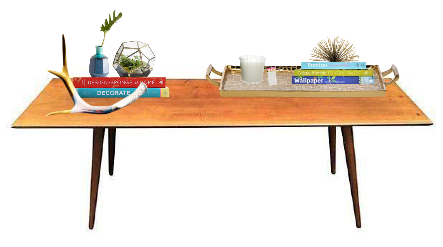 Modern eclectic coffee table styling essentials chairishco modern eclectic coffee table styling essentials chairishco geotapseo Gallery