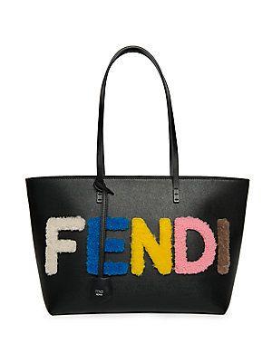 Fendi Logo Small Multicolor Shearling