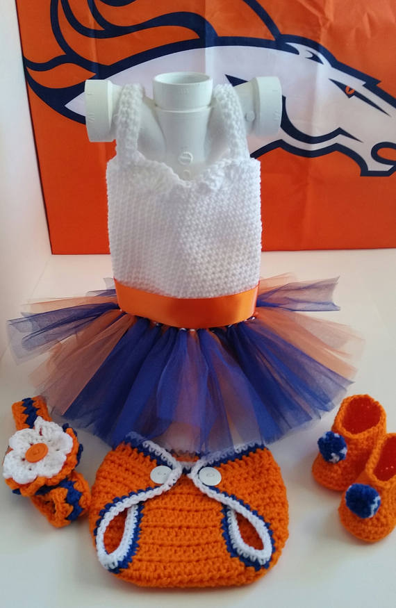 e35a1aaa1 Denver Broncos Inspired Tutu Dress Set