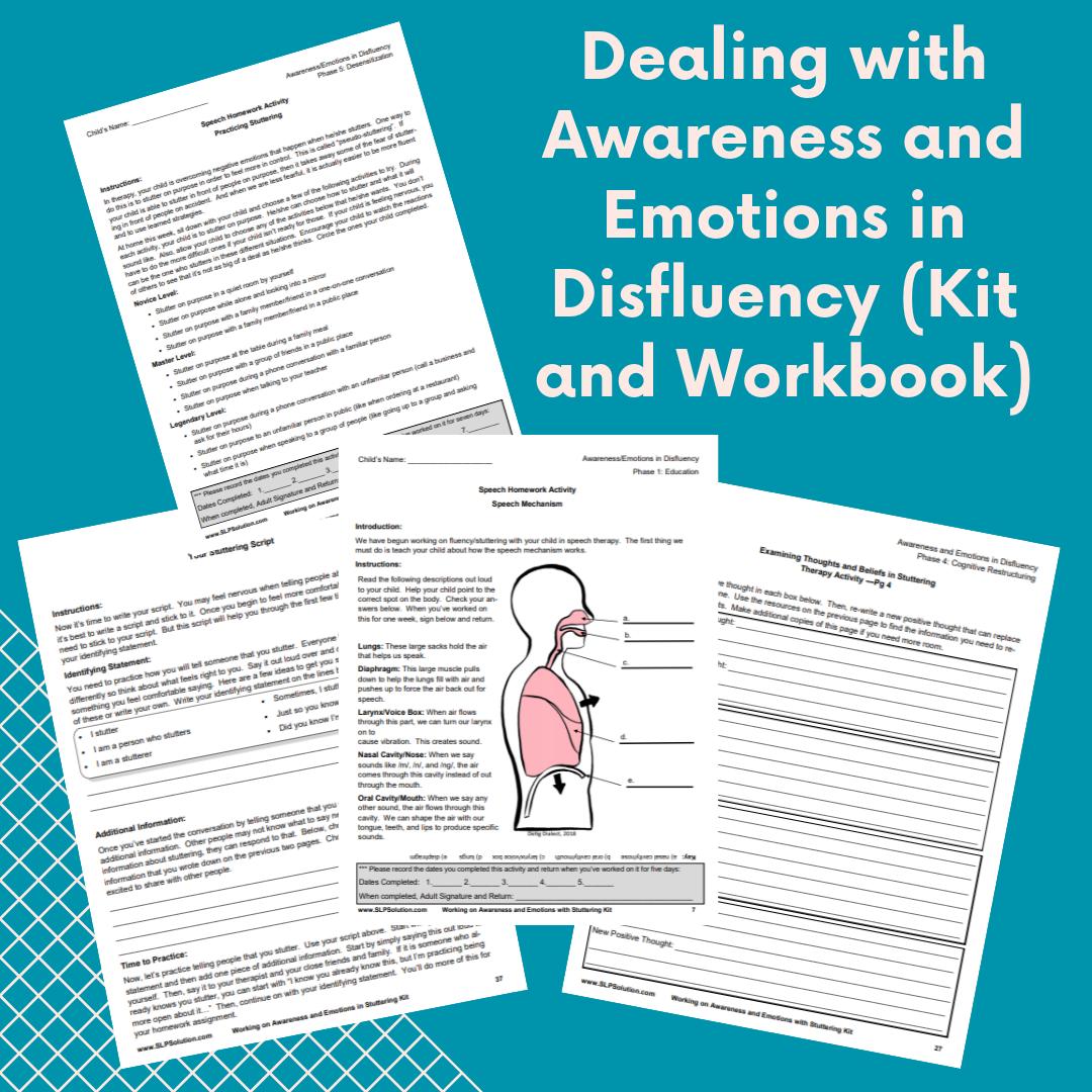 Dealing With Awareness And Emotions In Disfluency Kit And
