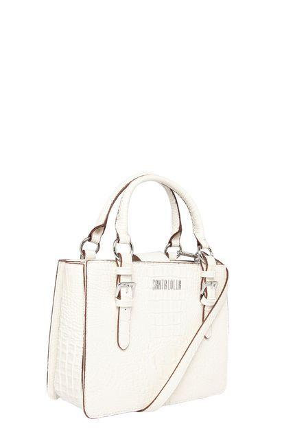 94df27eb9 Bolsa Santa Lolla Croco Alto Brilho Branca | Bolsa | Bags e Rebecca ...