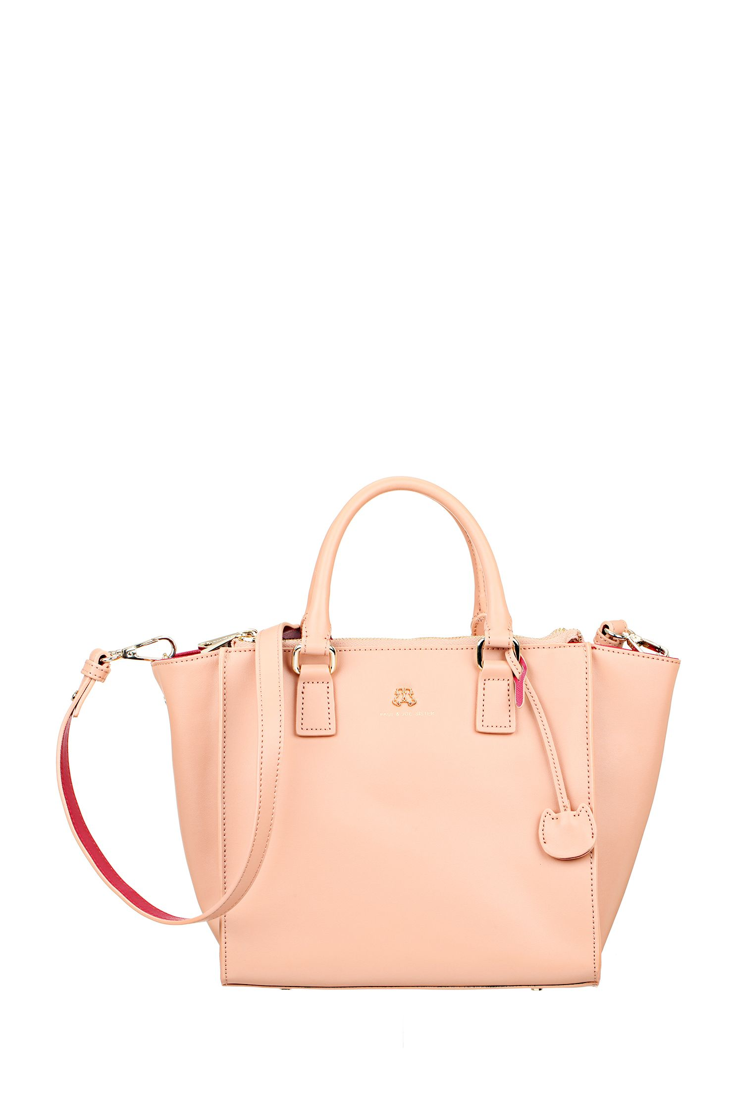 Leather Bag Eidy Pink Paul Joe Sister On Monshowroom