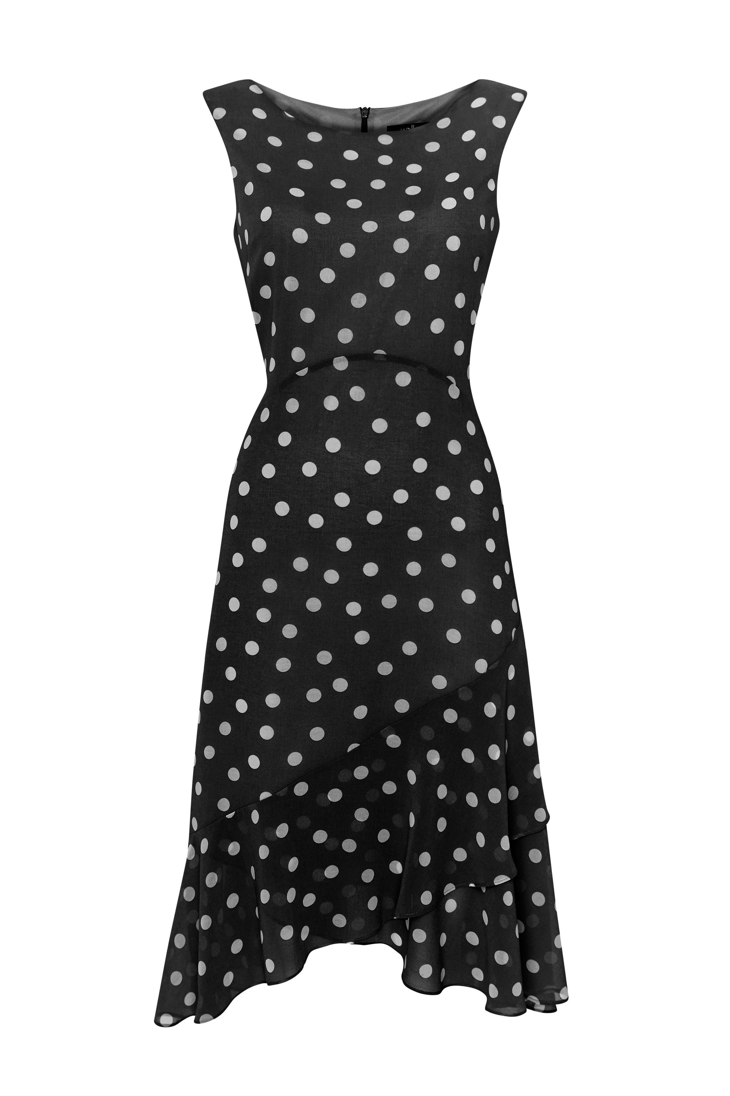807fed7d5c776 Black Polka Dot Fit and Flare Dress in 2019 | Wish List | Dresses ...