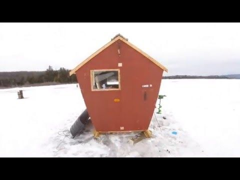 Ice Shanty with Homemade Wood stove