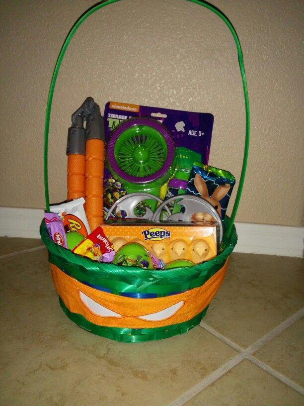 Ninja turtle easter basket easter baskets pinterest easter ninja turtle easter basket negle Images