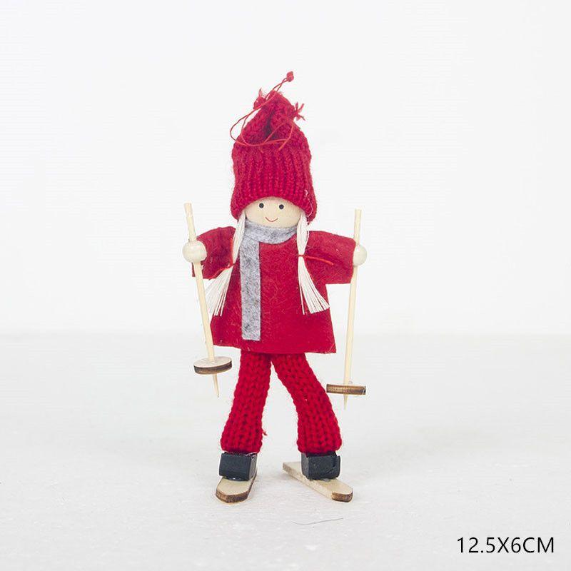 Christmas Angel Girl Boy Ski Dolls Xmas Tree Ornament Natal Noel Deco Christmas Decoration fo...