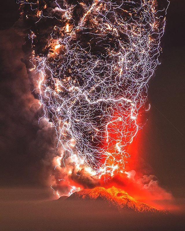 Volcano Lightning, Illuminated : Chile's Puyehue-Cordón Caulle volcanoSparked by forces deep within ash plumes, volcanic lightning storms offer unprecedented views into the eruptions.  #spiritscience #nature #volcano