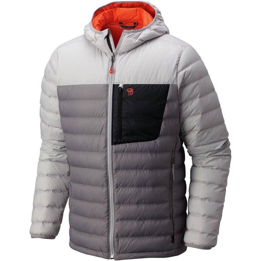 Mountain Hardwear Dynotherm Hooded Down Jacket Men S Manta Grey Jackets Mens Outfits Mens Jackets [ 900 x 900 Pixel ]