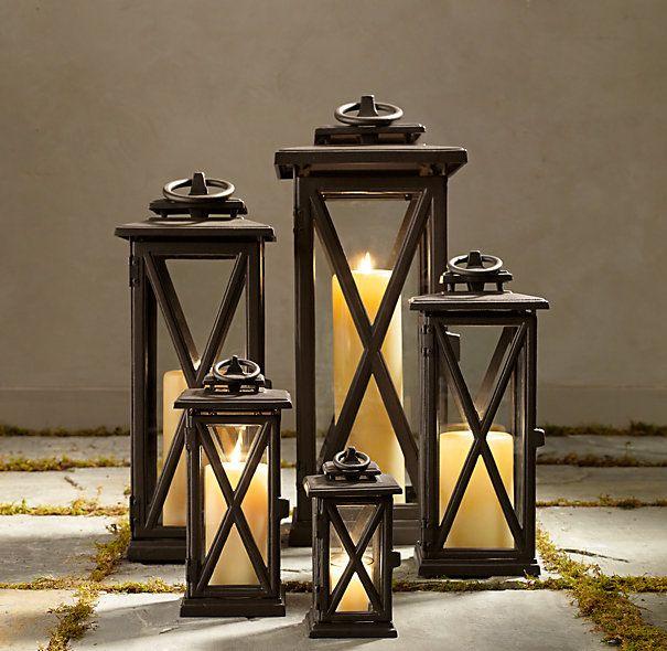 Avignon Square Lanterns Weathered Bronze Small Lantern