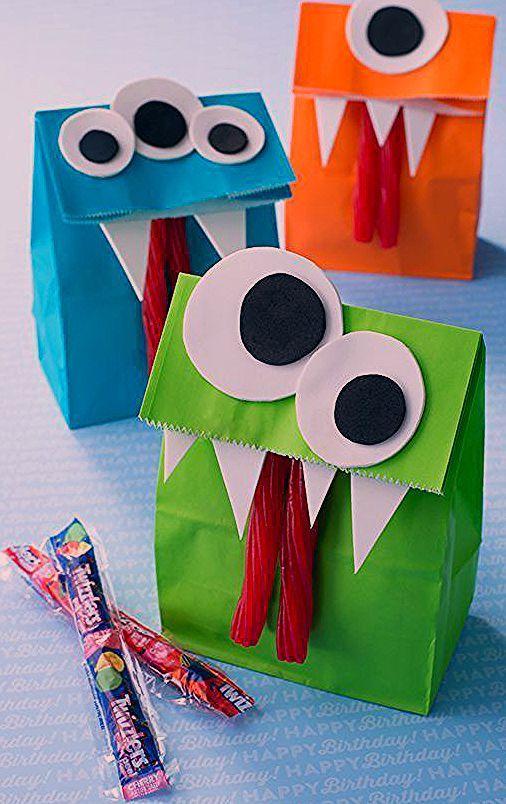 Halloween Monster Basteln und Leckereien