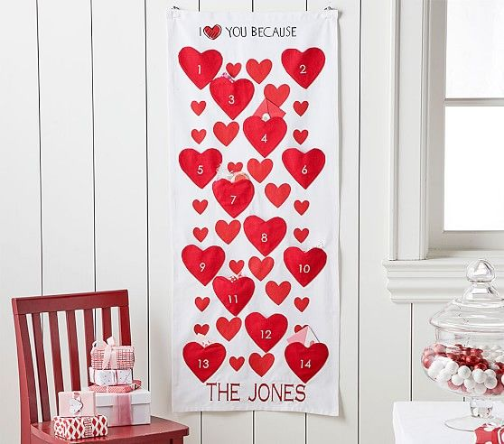 Quot I Love You Because Quot Countdown Calendar Valentines For
