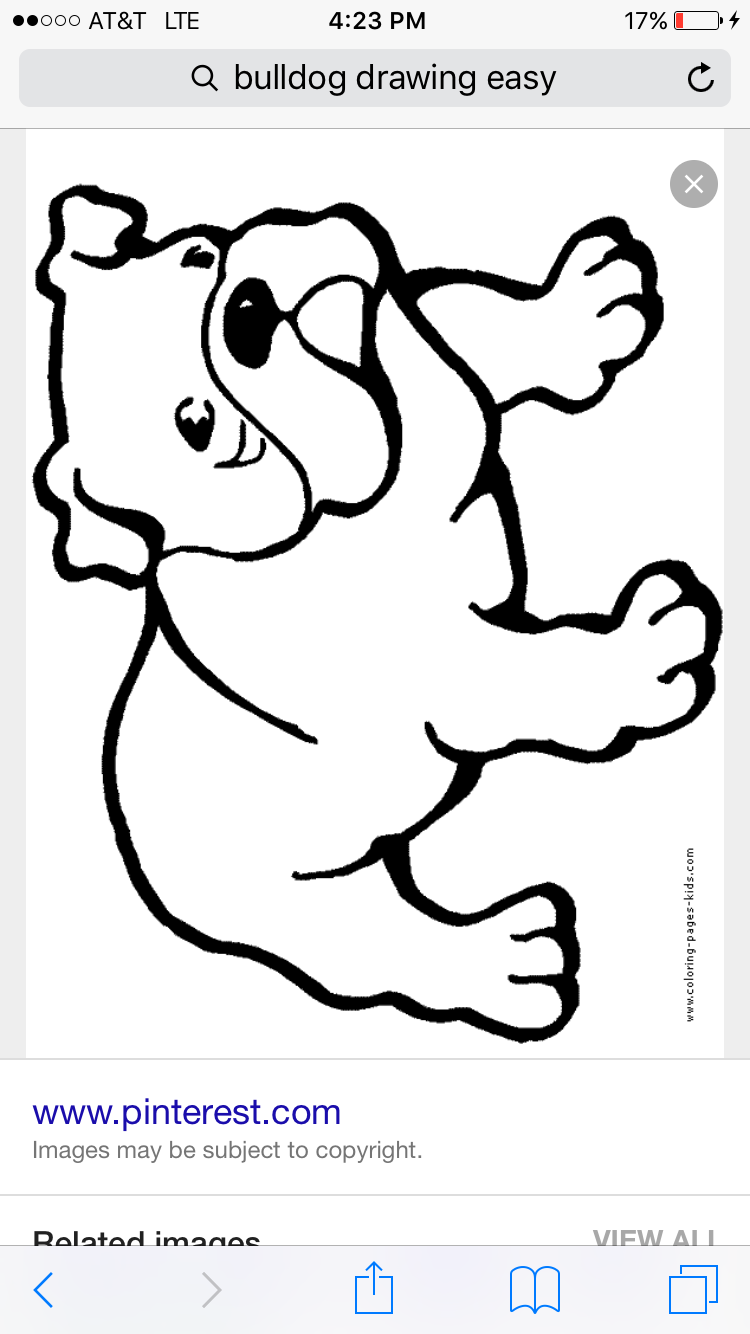 Bulldog Dogs Puppy Animal Coloring Pages Color Plate