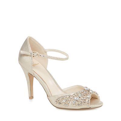 Stiletto heels, Gold stiletto heels, Heels