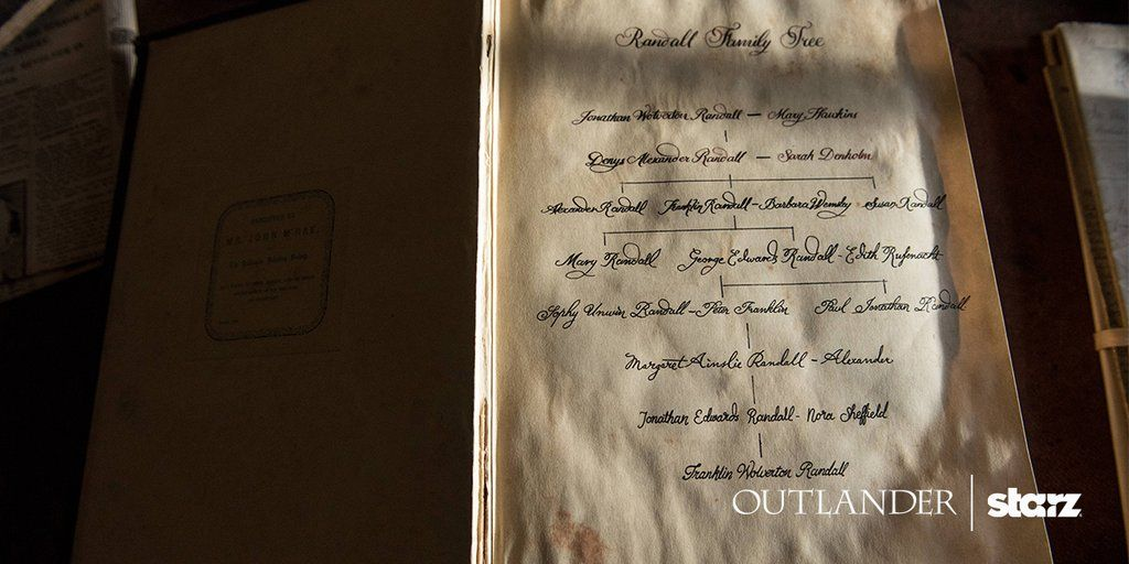 """Outlander on Twitter: """"The Randall family tree will prove its importance in Season 2. #OutlanderOfferings https://t.co/UdGBoYhyWR"""""""