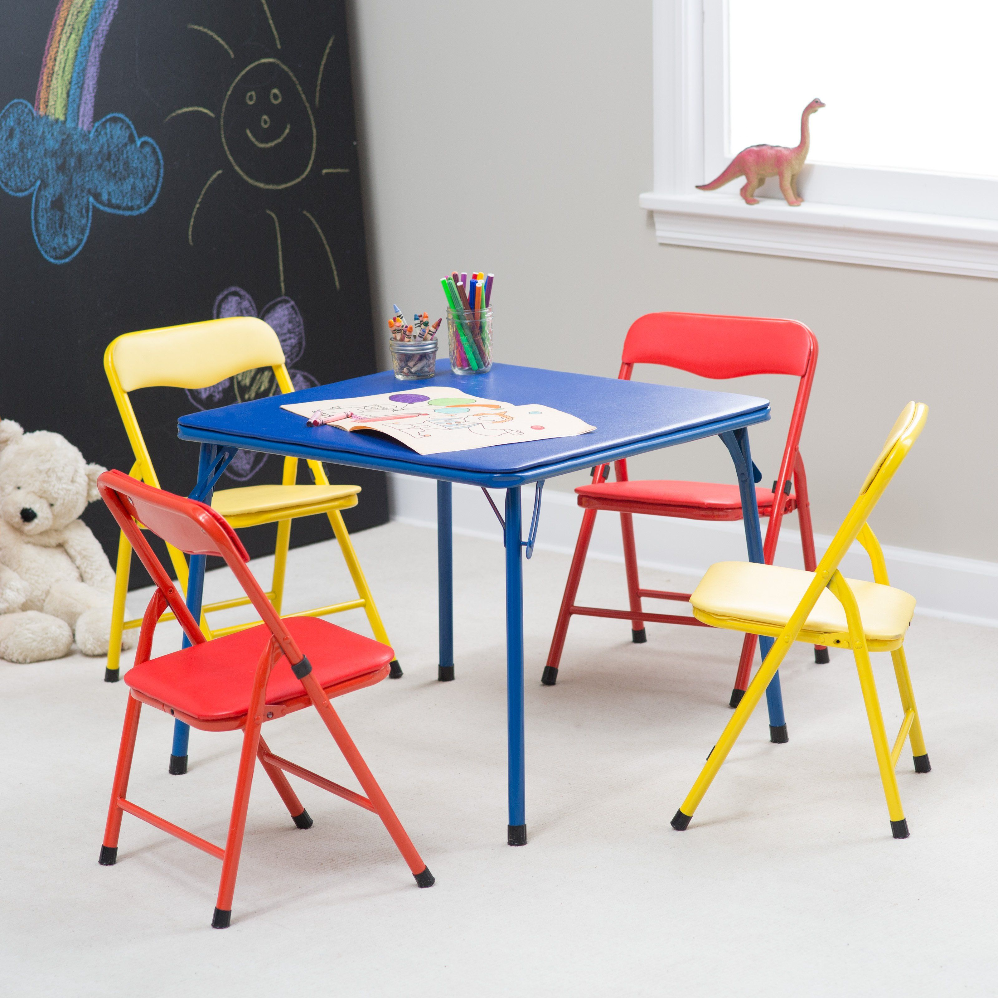 How To Buy A Folding Table And Chairs Set Designalls In 2020 Childrens Folding Table Toddler Folding Table Kids Folding Chair
