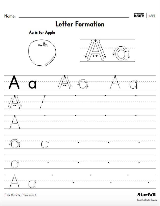 Kindergarten Letter Formation Worksheet Generator K Rf 1 Teach Starfall Com Letter Worksheets Learning Letters Letter Formation