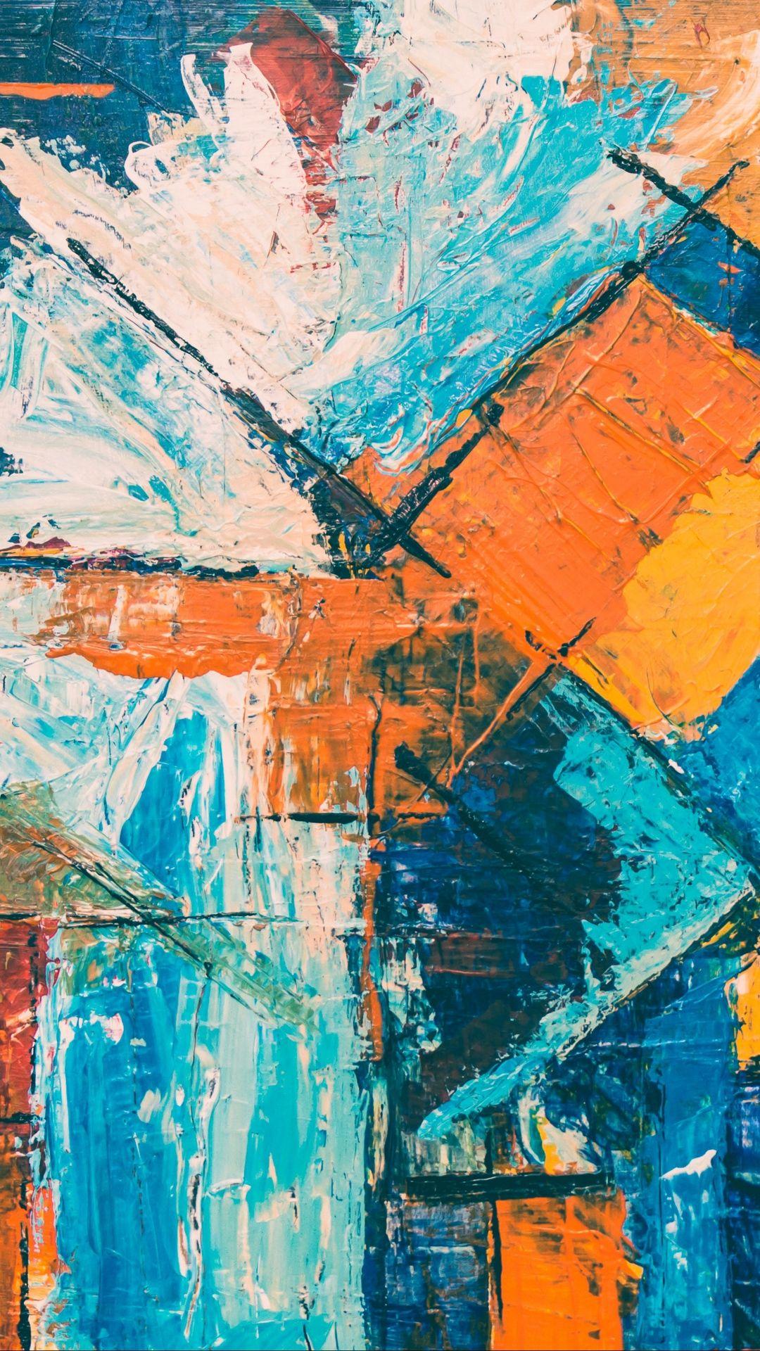 Splash Of Color Abstract Art Wallpaper Colorful Abstract Art Painting Wallpaper